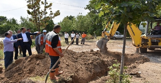 Başkan Geylani, içme suyu çalışmalarını inceledi