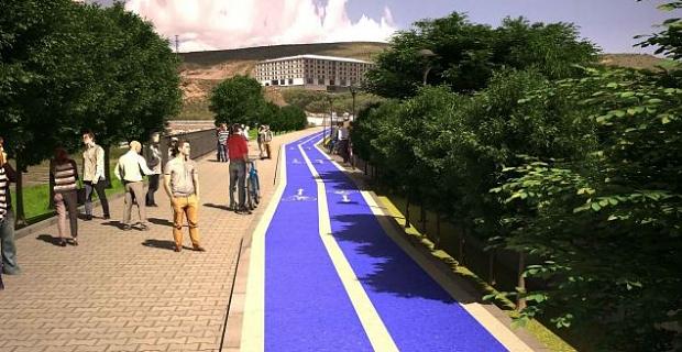 Bisiklet yolu projesi için çalışmalar hızlandırıldı
