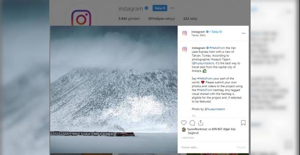 """Instagram'da paylaşılan """"Tatvan"""" fotoğrafı kentte memnuniyet uyandırdı"""