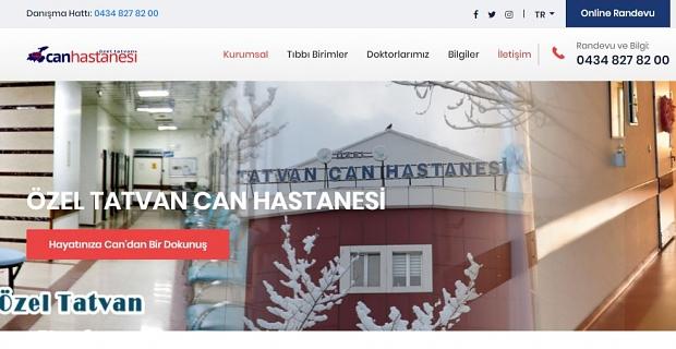 Özel Tatvan Can Hastanesi internet sitesi yayında
