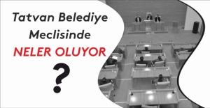 Tatvan Belediye Meclisinde neler oluyor?