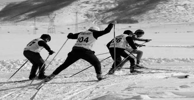 Bitlis'te 'Kayaklı Koşu' yarışması