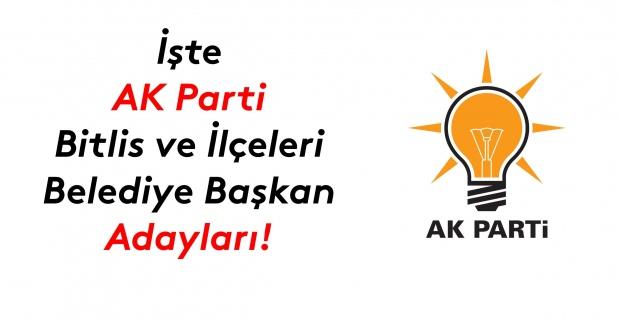 İşte AK Parti Bitlis ve ilçeleri başkan adayları!