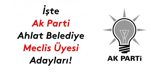 İşte Ak Parti Ahlat Belediye meclis üyesi adayları listesi!