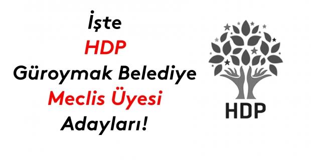 İşte HDP Güroymak Belediye meclis üyesi adayları listesi!