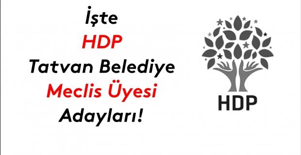 İşte HDP Tatvan Belediye meclis üyesi adayları listesi!