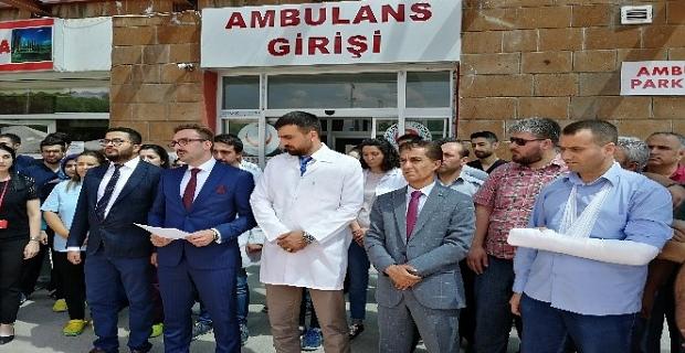 Ahlat'ta doktor ve güvenlik görevlisine yapılan şiddet kınandı