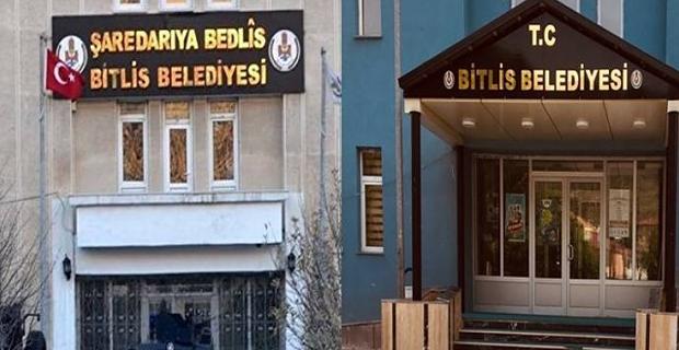 Bitlis Belediyesi 'Kürtçe' tabelayı indirdi!