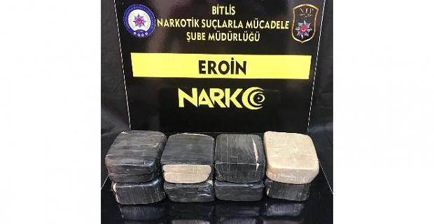 Bitlis'te 4 kilo 127 gram eroin ele geçirildi