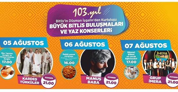 """""""Büyük Bitlis Buluşmaları"""" başlıyor!"""