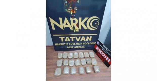 Tatvan'da 10 kilo eroin yakalandı!