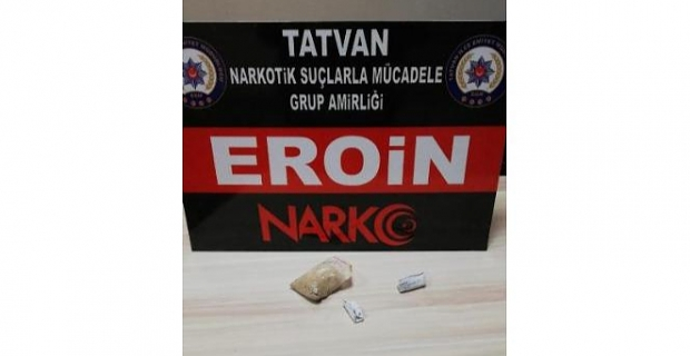 Bitlis'te 35 gram eroin ele geçirildi!