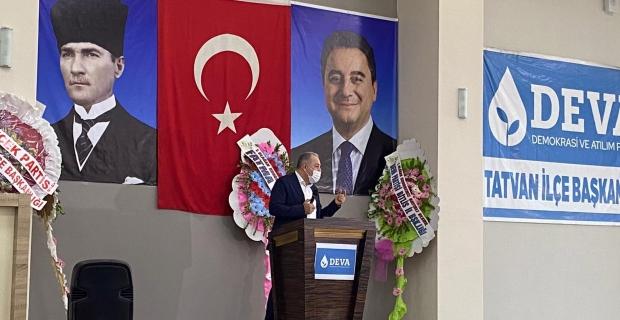 DEVA Partisi Tatvan kongresi ve Bitlis il binası açılışı yapıldı