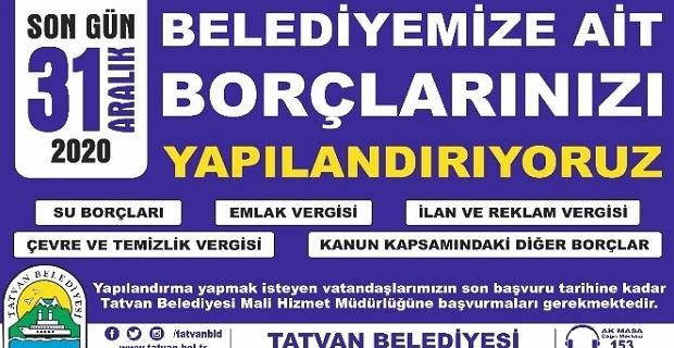 """Başkan Geylani """"Belediyemize olan borçlarınızı yapılandırıyoruz!"""""""