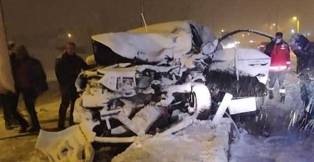 Bitlis'te trafik kazası: 1 yaralı!