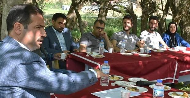Başkan Geylani, basın mensuplarıyla bir araya geldi