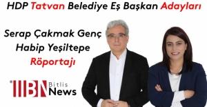 HDP Tatvan adayları Serap Çakmak Genç ve Habip Yeşiltepe röportajı