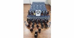 Tatvan ve Adilcevaz'da 703 şişe sahte içki ele geçirildi
