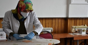Belediye maske üretimine başladı