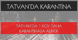 Tatvan#039;da 1 köy daha karantinaya...