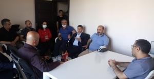 Bitlis DEVA'dan BİGACEM başkanı Aygül'e geçmiş olsun ziyareti