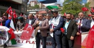 Bitlis'ten İsrail'in katliama kınama