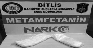 Güroymak'ta 451 gram metanfetamin ele geçirildi